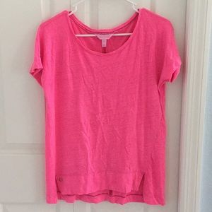 Lily Pulitzer pink cotton top
